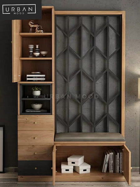 JOVE Modern Entryway Shoe Cabinet Bench