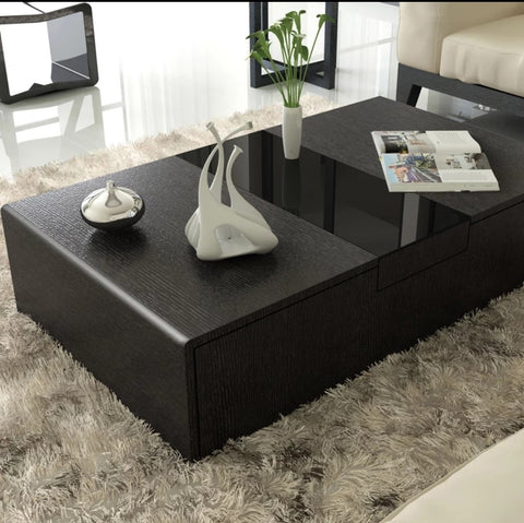 JEDSON Noir Modern Coffee Table