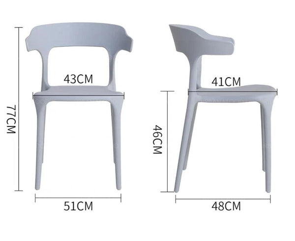 KENDEL Curved Ergonomic Dining Chairs