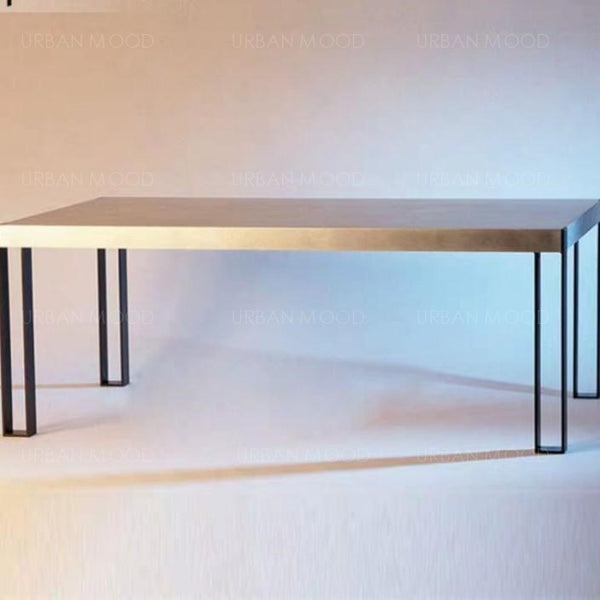 KERYN Modern Industrial Solid Wood Table