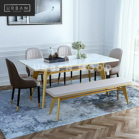 MAVERICK Minimalist Marble Dining Table
