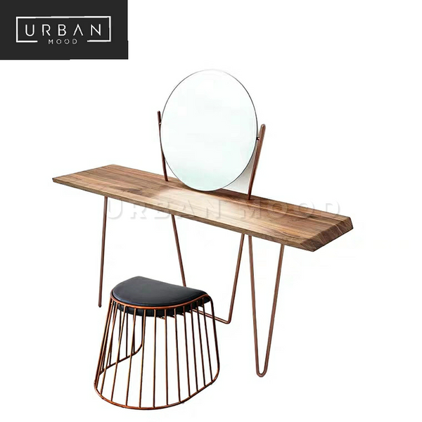 VICE Industrial Solid Wood Dressing Table