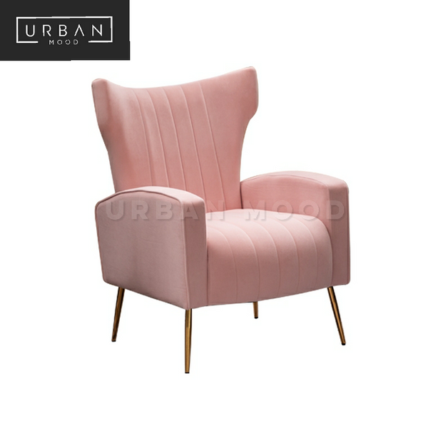 OREGON Winged Velvet Armchair