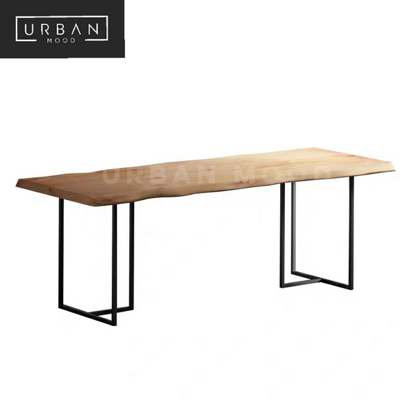 TYRUS Industrial Solid Wood Dining Table