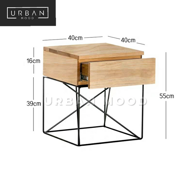 RUSE Modern Industrial Side Table