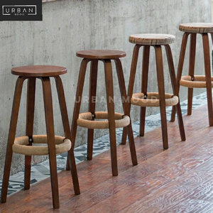 COHEN Rustic Round Bar Stool