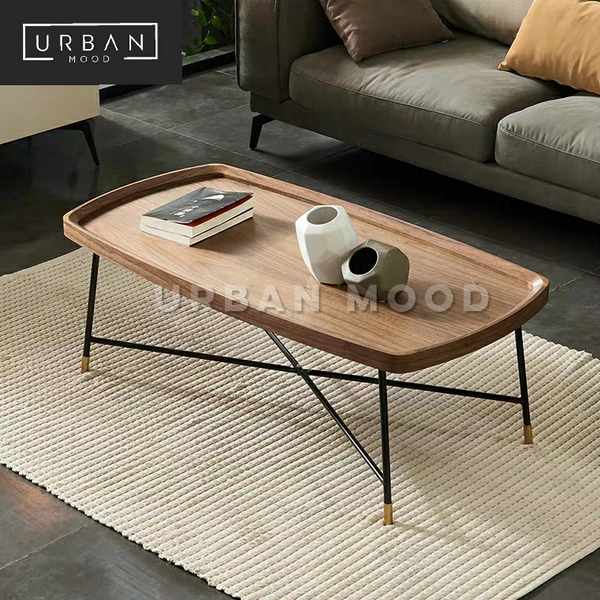 DAVY Modern Walnut Coffee Table