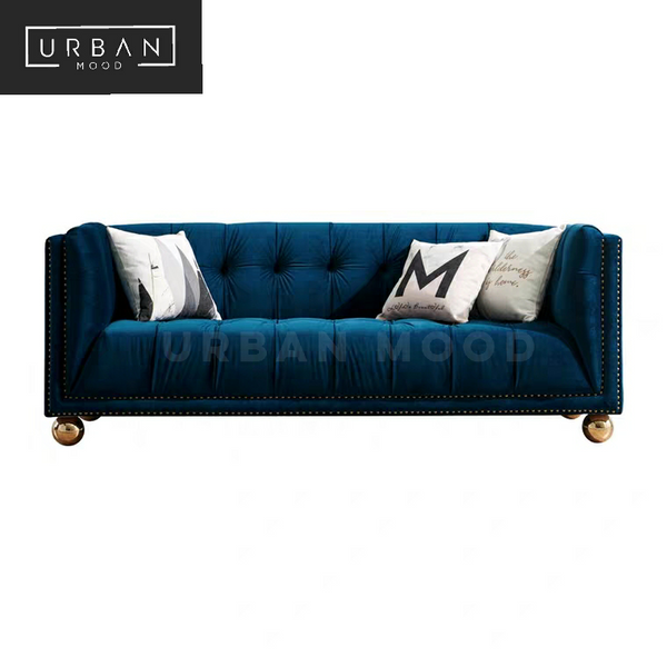 SUTTON Victorian Tufted Velvet Sofa