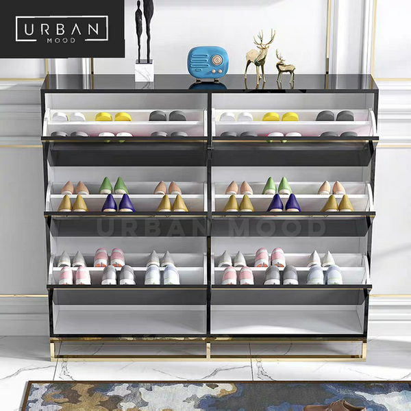 ABBEY Modern Ultra Slim Shoe Cabinet