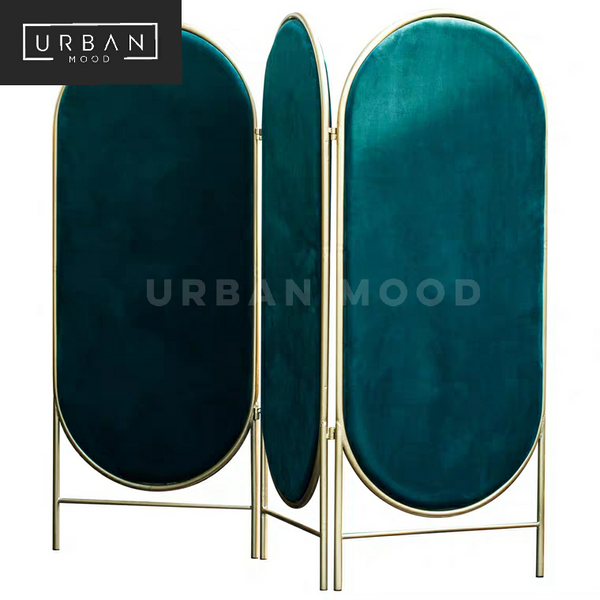 VIBE Minimalist Velvet Folding Screen