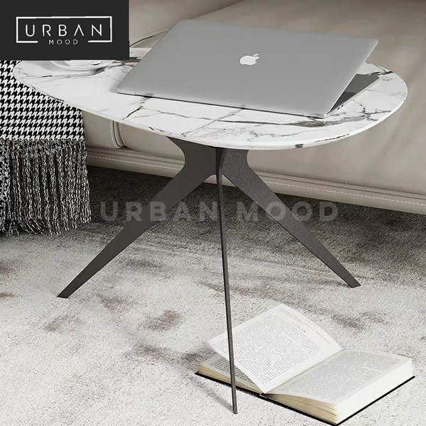 MAIDEN Contemporary Marble Side Table