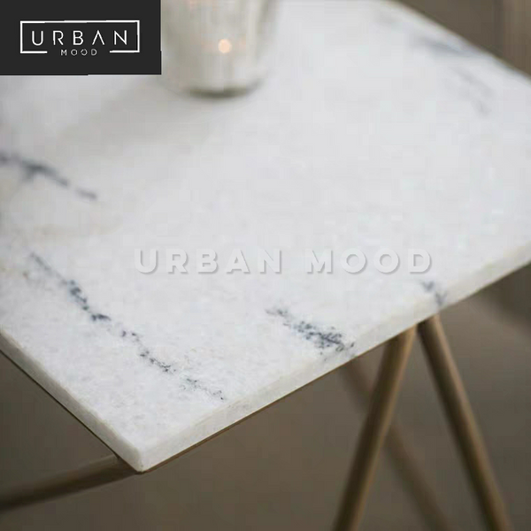 CAVIER Minimalist Marble Side Table