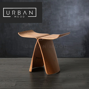 WALSH Solid Wood Butterfly Stool