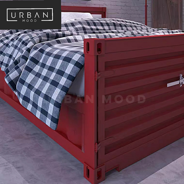 META Industrial Metal Bed Frame