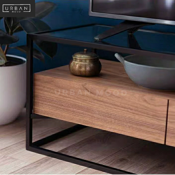 MODA Mixed Element Floating TV Console