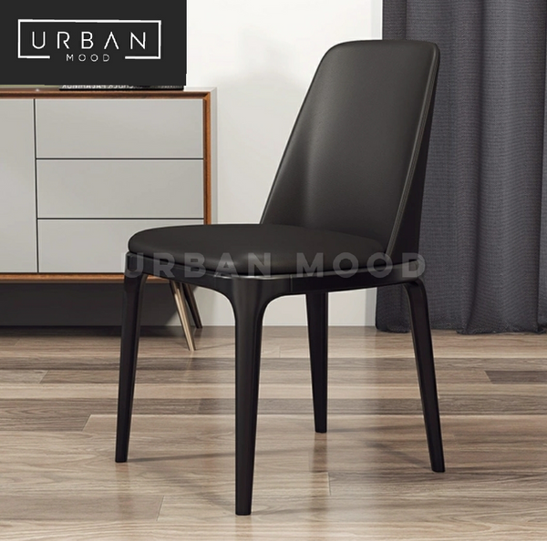 CHAD Vintage Faux Leather Dining Chair