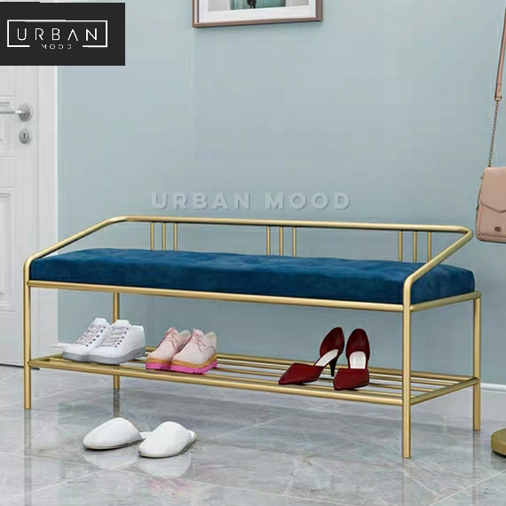 CITY Modern Velvet Ottoman Bench