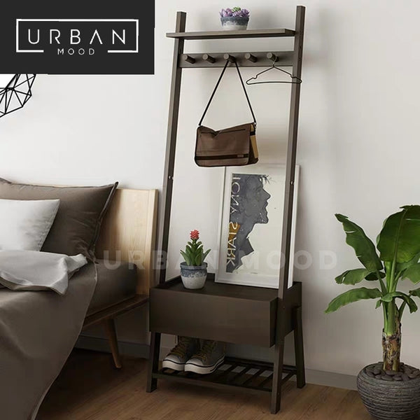 MIGUEL Rustic Bedside Table Rack