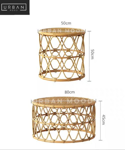 MERRITH Rattan Accent Coffee Table