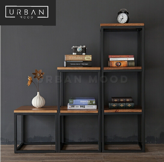 SIENNA Modern Industrial Solid Wood Shelf