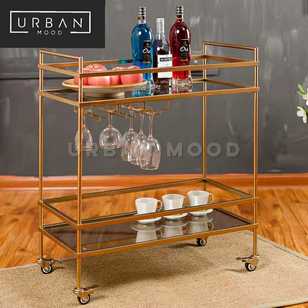 ALLY Victorian Gold Kitchen Trolley