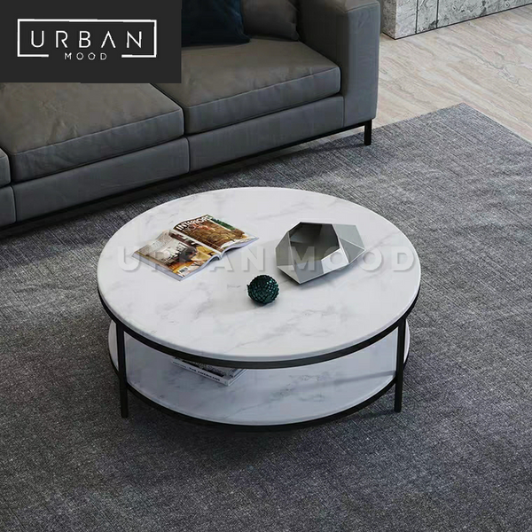 PRISTINE Round Marble Coffee Table
