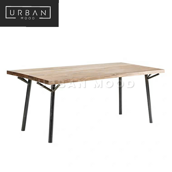 TEASE Modern Industrial Solid Wood Study Table