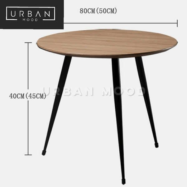 LOMO Modern Industrial Round Coffee Tables