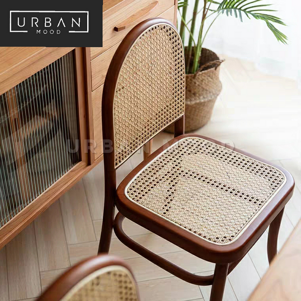 DENNY Vintage Rattan Dining Chair