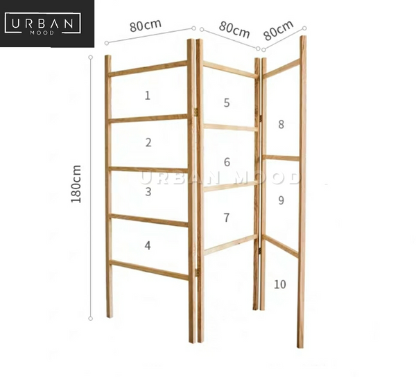 GALVIN Rustic Wooden Ladder Rack