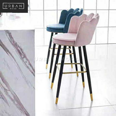 PETAL Modern Velvet Bar Chair