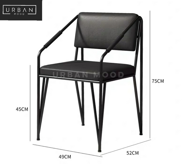 TRIBE Industrial Faux Leather Dining Chair