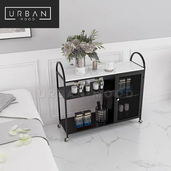 VISCERA Modern Marble Kitchen Trolley