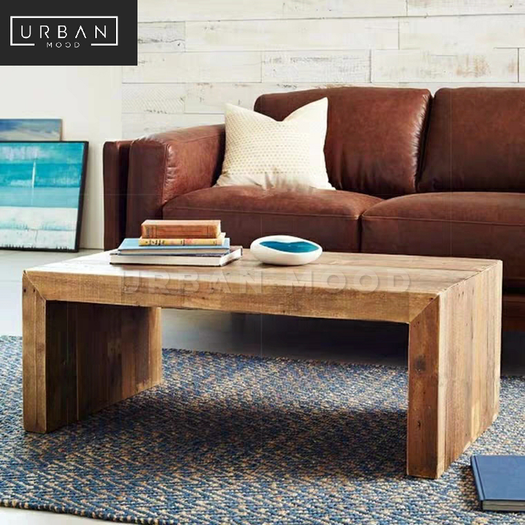 CONNELL Rustic Solid Wood Coffee Table