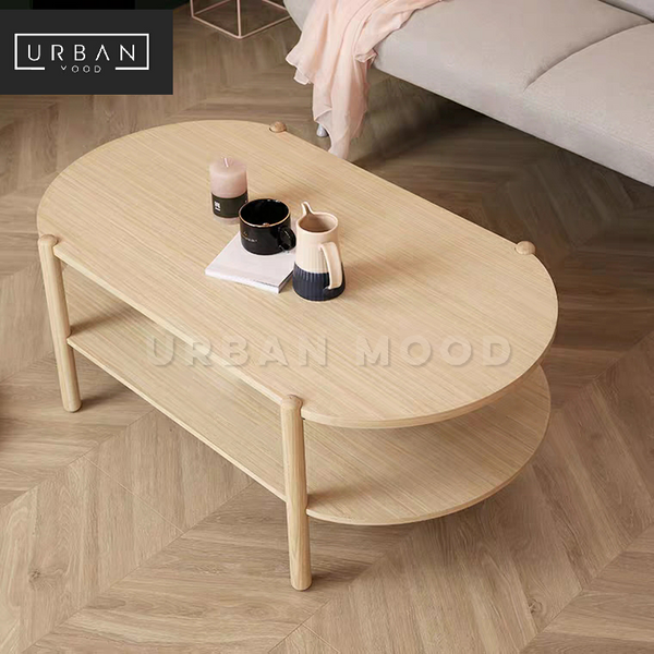 NOAH Scandinavian Pine Wood Coffee Table
