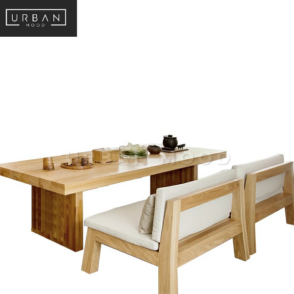 RIDGE Scandinavian Pine Wood Dining Table & Bench