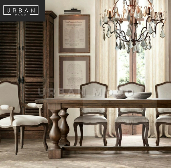 JAQUET Vintage Distressed Dining Table & Chairs