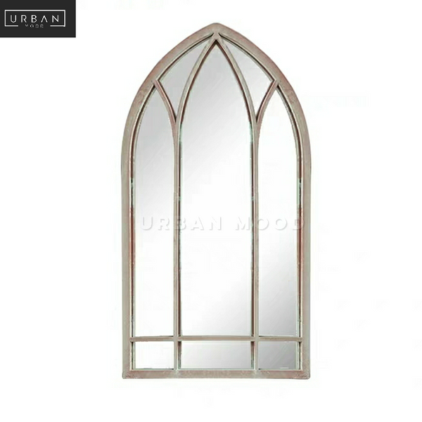 BETHEL Vintage Arch Window Wall Mirror