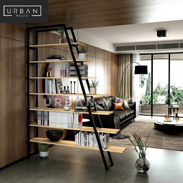 STELLAR Modern Industrial Ladder Display Shelf