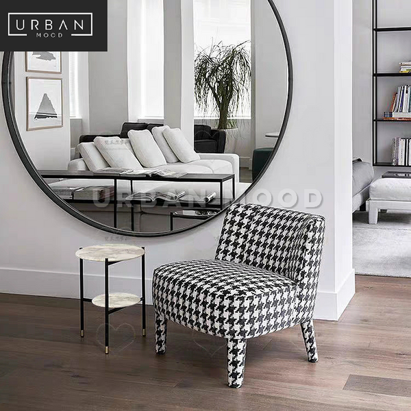 HUME Modern Houndstooth Armchair