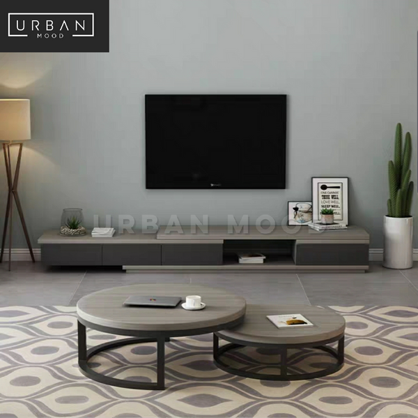 RODEO Modern Ash Grey TV Console