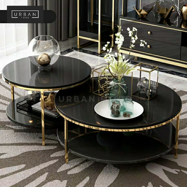 MARQUIS Round Glass Coffee Table