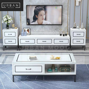 KIN Modern Victorian TV Console & Coffee Table