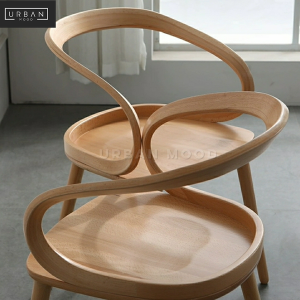 STRAUSS Postmodern Solid Wood Dining Chair