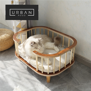 SCHIFFER Rattan Dog Bed