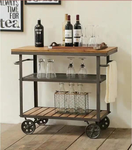 MARLEY Modern Rustic Kitchen Bar Cart