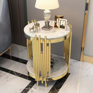 MISHA Luxury Gold Side Table