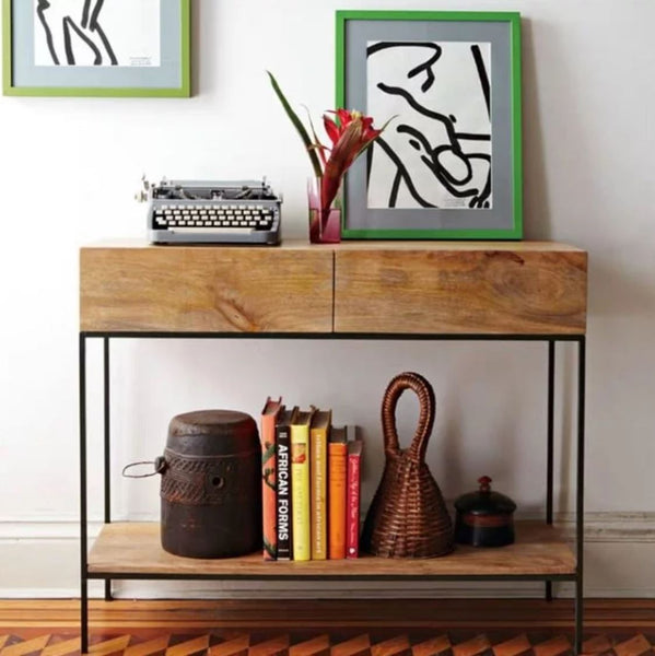 MALCOLM Solid Wood Hallway Cabinet Console