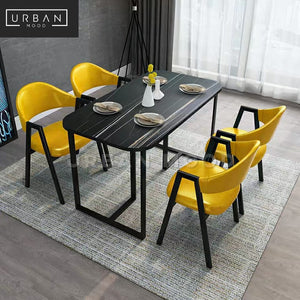 MONIX Modern Marble Dining Table & Chairs