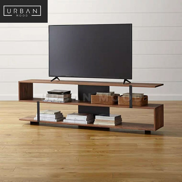 MOTLEY Industrial Solid Wood TV Console